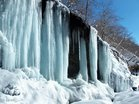 ツバメ岩の氷柱群  撮影/玄梅様