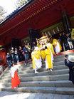 弥生祭-本社拝殿へ/撮影:玄梅様