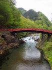 新緑と神橋/撮影:玄梅様