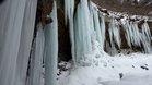 1月27日のツバメ岩氷柱群