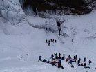 氷壁登攀訓練