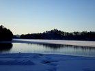 半分凍結の湯ノ湖
