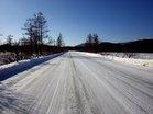 除雪された、国道戦場ヶ原