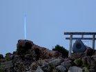 山頂青い神剣