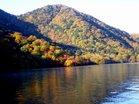 半月山と湖畔の紅葉