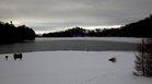 大寒の湯ノ湖
