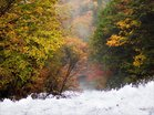 湯滝落ち口の紅葉